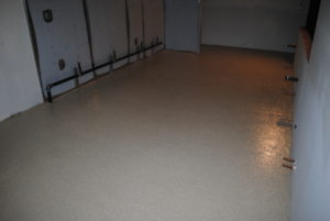 Epoxy Flake Broadcast Over Plywood Sub-Floor
