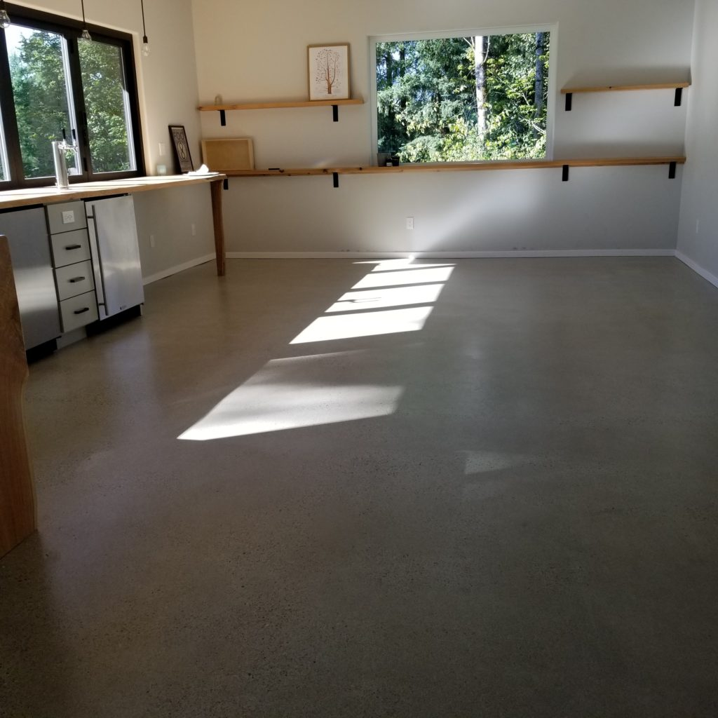 Man Cave with Sealed Concrete Floors