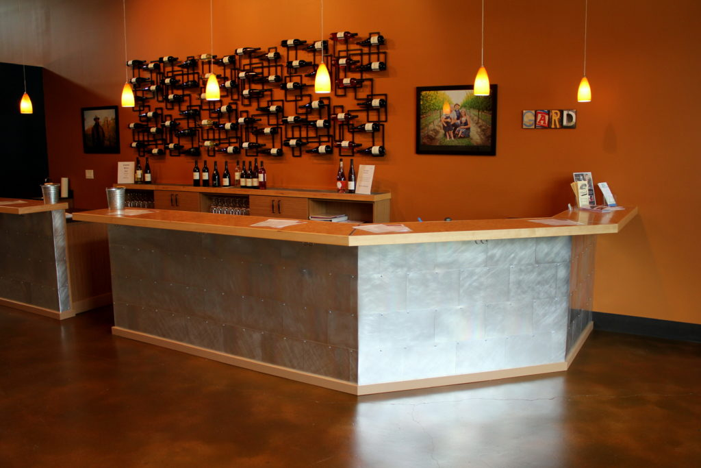 Stained and Sealed Concrete in a Wine Tasting Room