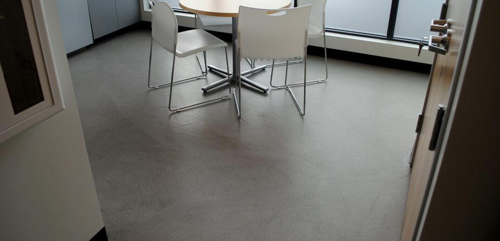 Micro-Topping Floor in a Bank Break Room