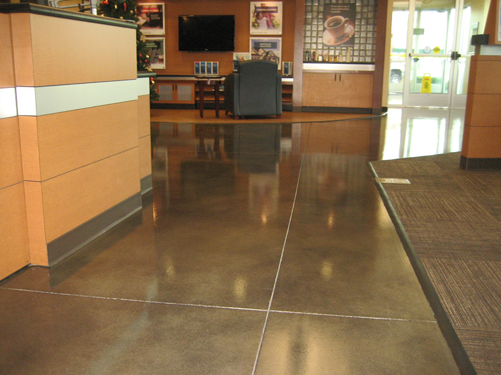 Stained Concrete Bank Lobby
