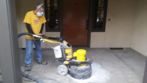 Grinding a Porch to Prep the Surface