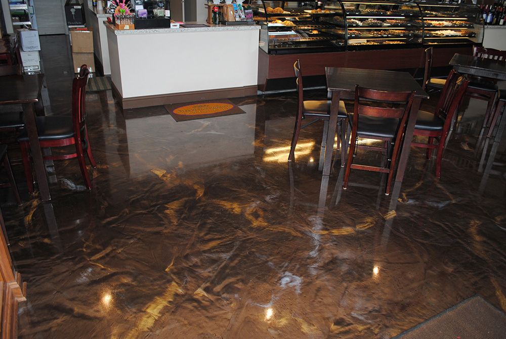 Designer Metallic Epoxy for Renton Chocolate Shop
