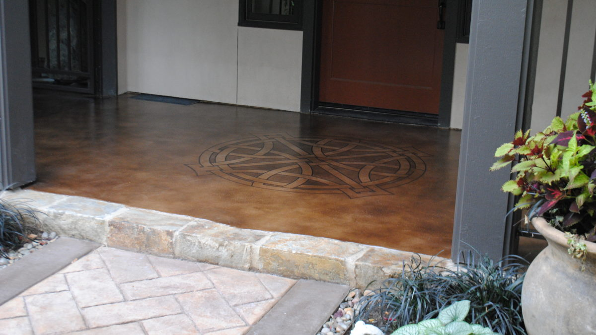 How To Stencil A Concrete Floor Seattle Surfaces