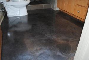 Designer Epoxy Flooring in a Bathroom