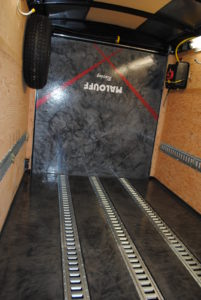 Designer Epoxy Floor in Racing Trailer