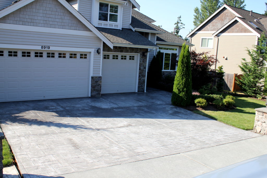 Stamped Driveway Before Spray-On Resurfacing