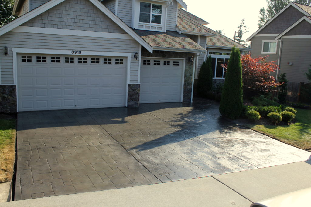 A Driveway Refinished with Spray-On Resurfacer