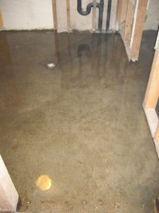 Epoxy Moisture Barrier on Basement Floor